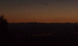 Sunset over the Willamette Valley from a porch off Skyline Drive, Portland, OR